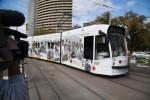 The first Anzac Centenary Tram