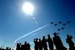 Flyover at a commemorative event