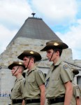 Australian army cadets during the ANZAC Day Parade at the Shrine of Remembrance in Melbourne, Thursday, April 25, 2013. Tens of thousands of people attended the event in honour of men and women of the Australian and New Zealand Army Corps.