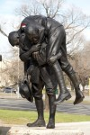 Peter Corlett's sculpture of the Cobbers
