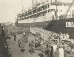 5TH BATTALION DISEMBARKING FROM THE ORVIETO (A3) AT ALEXANDRIA
