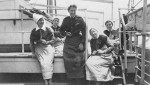 Five Australian Nursing Sisters on board Troopship Orvieto returning to Australia after serving overseas, 1919. Reprinted courtesy of the Australian War Memorial.