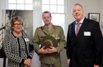 Judy Delahunty, Colonel Mark Dixon and Joshua Puls,
