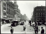 Melbourne's Swanston street in 1914 – calm and confident. Pictures Collection, State Library of Victoria.