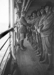 A guard of the 5th Battalion on board A3 HMAT Orvieto, 1914. Reprinted courtesy of the Australian War Memorial.