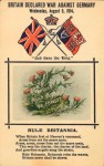 Postcard announcing declaration of war 1914 Great Britain Date 1914. Pictures Collection, State Library of Victoria.