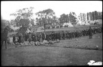 Recruits arriving at Broadmeadows Military Camp in 1914. Pictures Collection, State Library of Victoria.