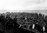 Waiting to board Shropshire Nov. 22 1916, Port Melbourne. Pictures Collection, State Library of Victoria.