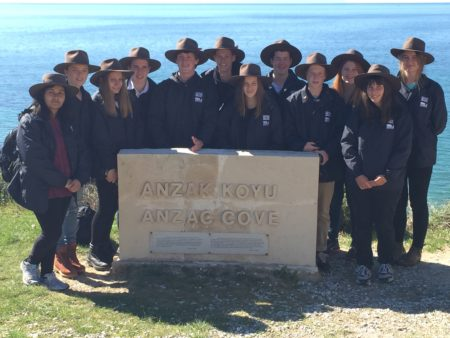 Students on the Premier's Spirit of Anzac Prize tour