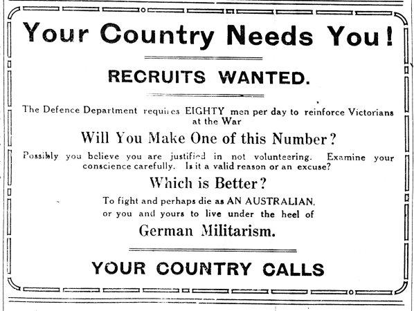 Wwi history anzac centenary victorian government