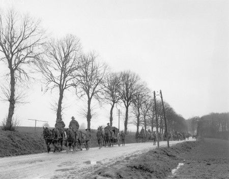 Soldiers and horses at Amiens