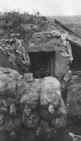 german concerete shelter at messines ridge