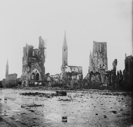 buildings destroyed at Ypres